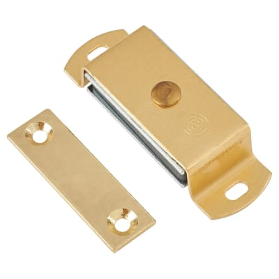Magnetic Catch - 6.0kg Pull - 60mm - Solid Brass