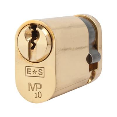 Eurospec Oval Single Cylinder - 10 Pin - 35 + 10mm - Polished Brass - Keyed to Differ