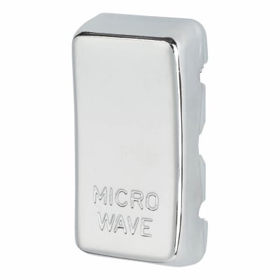 BG Printed Grid Switch Rocker - Microwave - Polished Chrome