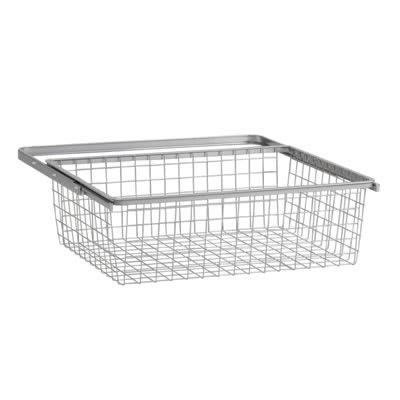 elfa Basket and Frame - 610 x 440 x 185mm - Platinum