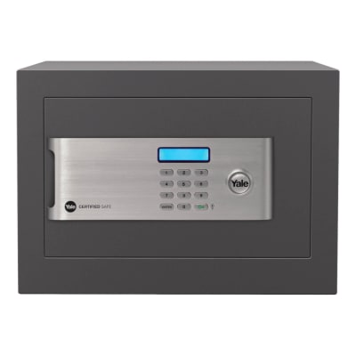 Yale Certified Home Safe - 250 x 350 x 300mm - Grey
