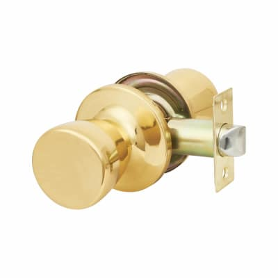 Touchpoint Hotel Door Knobset - Passage - Polished Brass