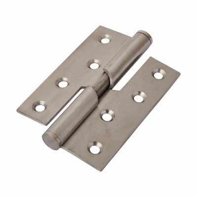 Rising Butt Hinge - 102 x 76 x 2mm - Right Hand - Satin Stainless Steel - Pair