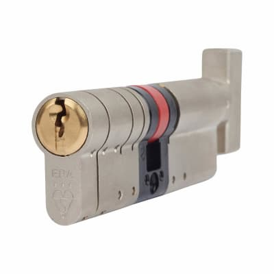 ERA 3 Star Fortress Euro Thumbturn Cylinder - 100mm Length - 45mm [Turn] + 55mm - Nickel and Brass