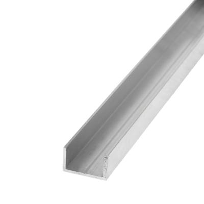 2500mm U Profile - 15.5 x 27.5 x 1.5mm - Raw Aluminium