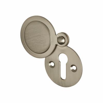 Jedo Covered Escutcheon - Keyhole - 32 x 32mm - Satin Nickel