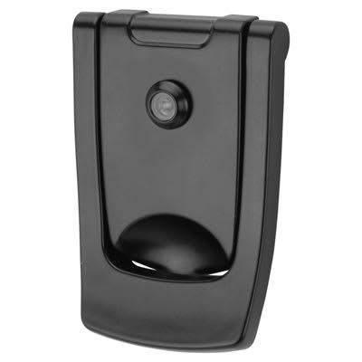 Hoppe Designer Door Knocker with viewer - 110 x 74mm - Black