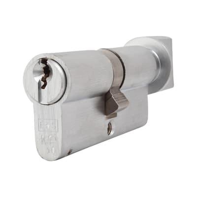 Eurospec 10 Pin 70mm Euro Thumbturn Cylinder - 35mm [Turn] + 35mm - Satin Chrome - Master Keyed