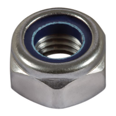 Nylon Insert Nuts - M12 - A2 Stainless Steel - Pack 100