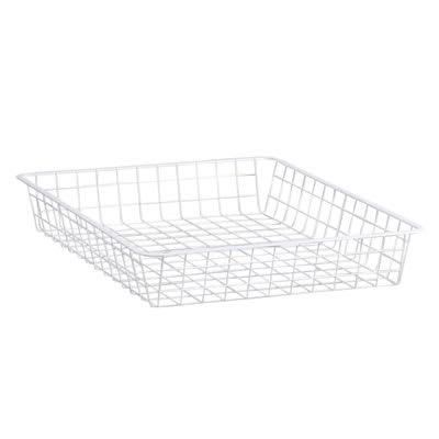 elfa Shallow Storage Basket - 527 x 427 x 85mm - White