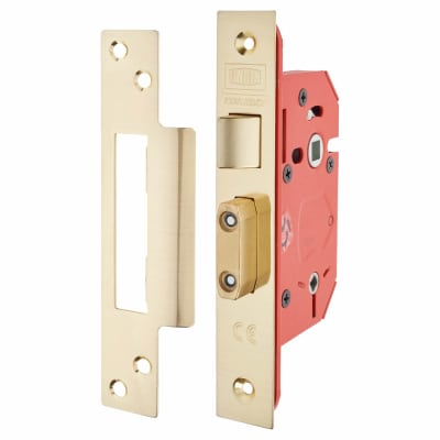 UNION 22WCS StrongBOLT Bathroom Lock - 68mm Case - 45mm Backset - Brass