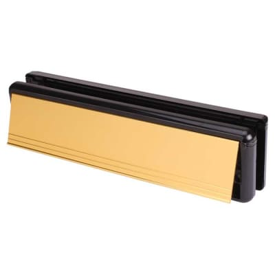 Yale Seal Letter Plate - 265 x 70mm - door thickness 20-40mm - Gold
