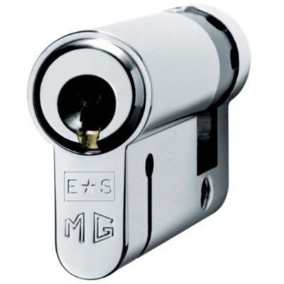 Eurospec Euro Single Cylinder - 15 Pin - 35 + 10mm - Polished Chrome - Keyed Alike