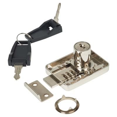 Adjustable Backset Lock -  22 x 18mm - Keyed to Differ - Left Hand