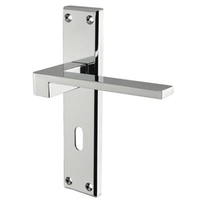 Carlisle Brass Equi Door Lock Handle - Keyhole - Polished Chrome