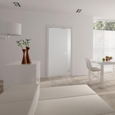 Eclisse 8mm Glass Single Pocket Door Kit - 125mm Wall - 826 x 2040mm Door Size