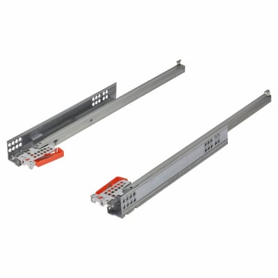 Blum TANDEM BLUMOTION Soft Close Drawer Runners - Single Extension - 450mm - 30kg