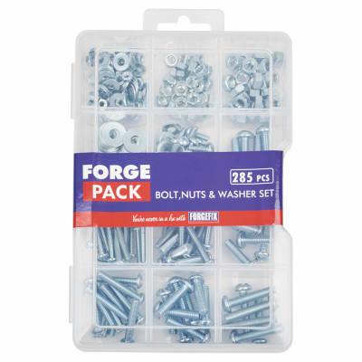 ForgeFix Nut, Bolt & Washer Assortment Pack - Zinc Plated