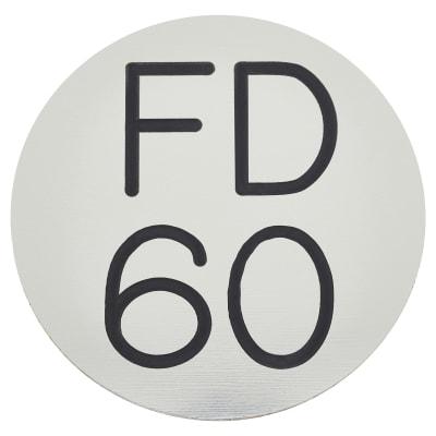 FD60 Door Sign Self Adhesive - 50mm - Silver