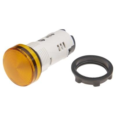 Schneider 230V Harmony XB7 Round Pilot Light Integral LED - Orange