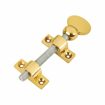 Altro Top Mounted Sash Screw - 76mm - Polished Brass