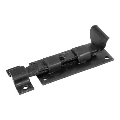 Olde Forge Straight Bolt - 160 x 50mm - Antique Black Iron