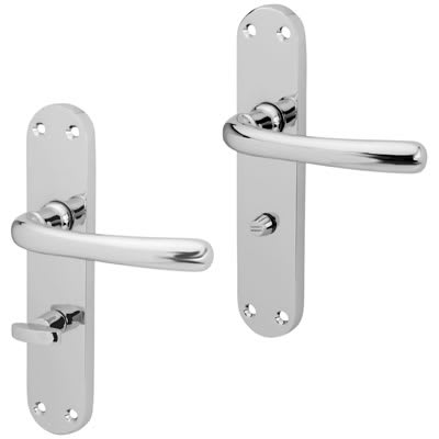 Touchpoint Sassari Bathroom Door Handle - Polished Chrome