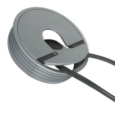 Altro Round 2-piece Fliptop Cable Port - 80mm - Silver
