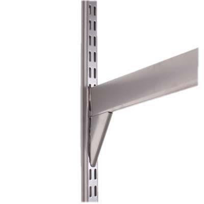 elfa Twin Slot Reinforced Shelf Bracket - 570mm - Silver