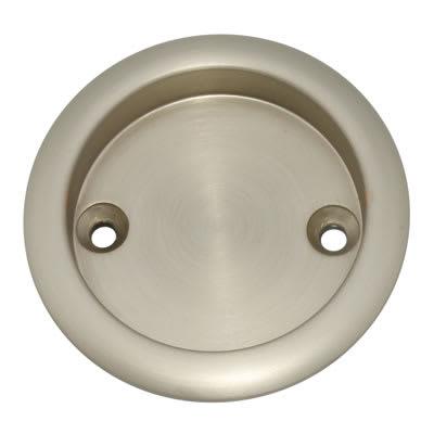 Klug Round Screw Fixed Flush Handle - 63mm - Satin Nickel