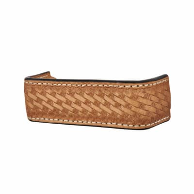 Bar Leather Cabinet Handle - 120mm - Mottled Effect - Natural