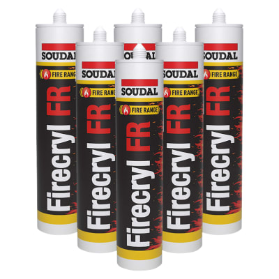 Soudal Firecryl FR - Trade Multi-pack - 310ml - White - Pack 6
