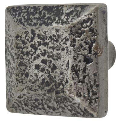 Olde Forge Vintage Square Knob - 30mm - Pewter Effect