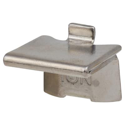 Altro Heavy Duty Raised Bookcase Clip - Polished Nickel - Pack 10