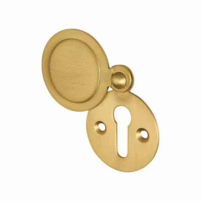 Jedo Covered Escutcheon - Keyhole - 32 x 32mm - Satin Brass