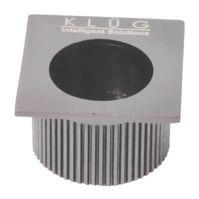 Klug Square Door Edge Finger Flush Pull - 30 x 30mm - Satin Nickel