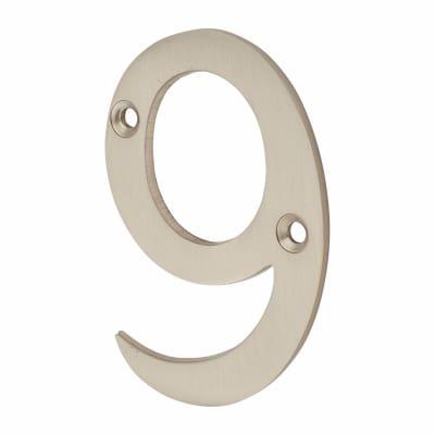 Altro 76mm Numeral - 9 - Satin Nickel