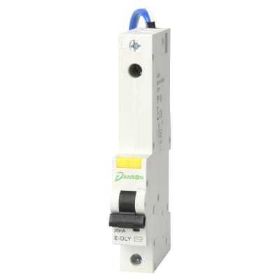 Danson 10A Single Pole 6kA RCBO Module - Type B