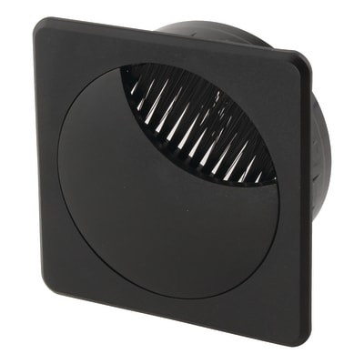 Altro Square Cable Tidy - 60mm - Black - Pack 10