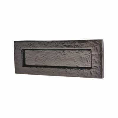 Elan Plain Letter Plate - 254 x 90mm - Metalized Antique Black Iron
