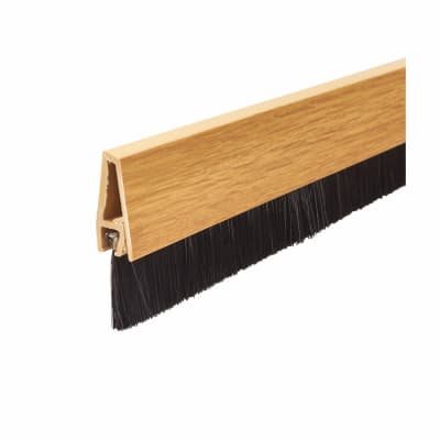Exitex Brush Seal Strip - 914mm - Light Oak Effect