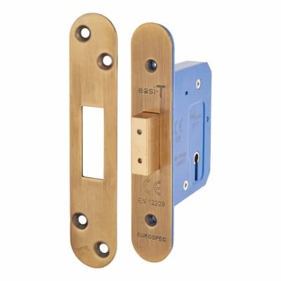Hampstead Architectural 3 Lever Deadlock - 65mm Case - 44mm Backset - Radius - Florentine Bronze