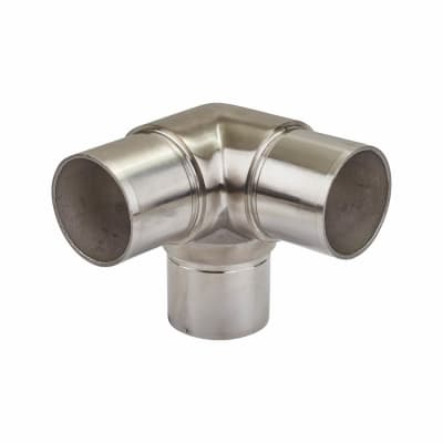 Balustrade 3 Way Elbow - 316 Stainless Steel - Brushed Satin
