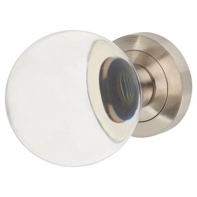 Altro Plain Ball Glass Mortice Door Knob - Satin Chrome