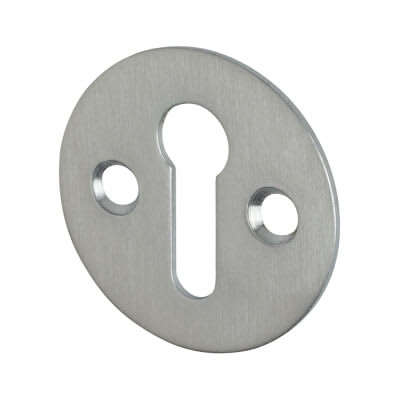 Victorian Escutcheon - Keyhole - Satin Chrome
