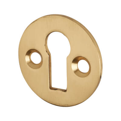 Victorian Escutcheon - Keyhole - Polished Brass