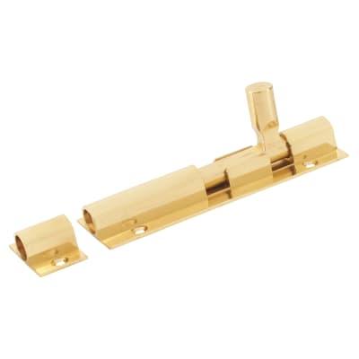 Altro Straight Barrel Bolt - 100 x 32mm - Polished Brass