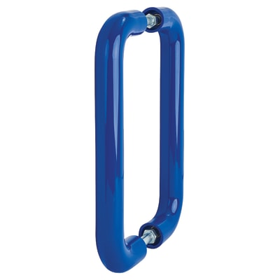 Hoppe Paris Coloured Nylon Back to Back Straight Pull Handle - 220 x 34mm - Cobalt Blue
