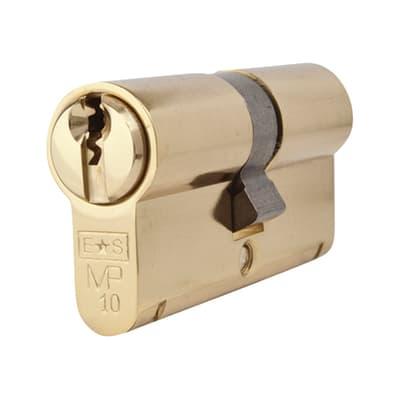 Eurospec Euro Double Cylinder - 10 Pin - 32 + 32mm - Polished Brass - Master Keyed