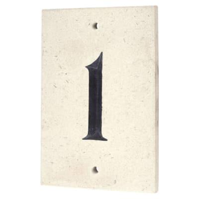 Limestone Numeral - 1 - 140 x 90mm - Natural Limestone